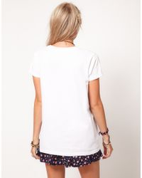 ASOS Collection White T- Shirt in Lost Youth Print
