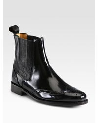 Burberry Black Gwendoline Patent Leather Ankle Boots