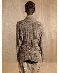 Damir Doma Brown Damir Doma Mens Jalgol Infinity Leather Jacket for men