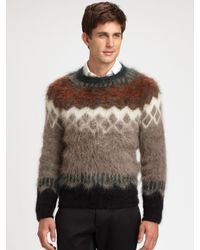 DSquared² Multicolor Fair Isle Sweater for men