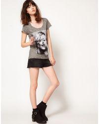 ELEVEN PARIS Gray Kate Moss Tshirt