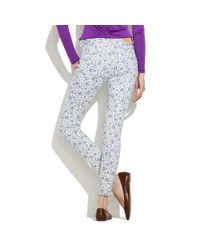 Madewell Blue Skinny Skinny Ankle Floral Jeans
