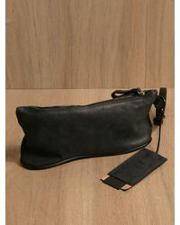 Marsèll Marsell Mens Suolamonete Black Leather Pouch for men