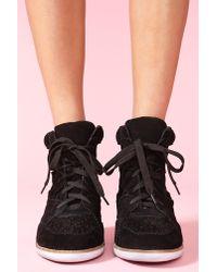 Nasty Gal Venice Wedge Sneaker Black