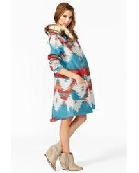 Nasty Gal Multicolor Durango Blanket Coat