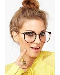 Nasty Gal Brown Ivy League Glasses Tortoise