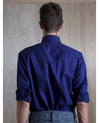 Nigel Cabourn Nigel Cabourn Mens Blue Naval Over Shirt for men