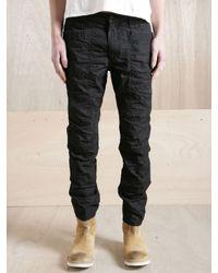 Nonnative Black Nonnative Mens Rider Parrifin Coated Pants for men