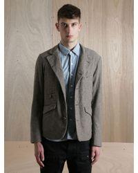 Nonnative Gray Nonnative Mens Voyager Wool Mix Tweed Jacket for men