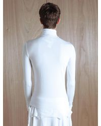 Raf Simons White Raf Simons Long Sleeve Polo Top for men