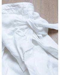 Raf Simons White Raf Simons Mens Tshirt Tie Pants for men