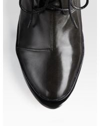 Rag & Bone Black Shirley Leather Laceup Platform Ankle Boots