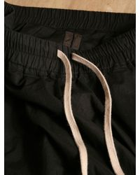 Rick Owens Black Rick Owens Mens Cropped Skirt Trousers for men