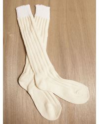 Rick Owens Natural Rick Owens Knit Cream Socks for men