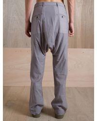 Rick Owens Gray Rick Owens Mens Tailored Swing Pant for men