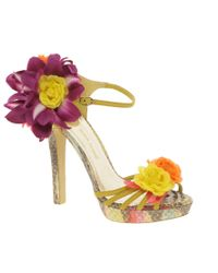 River Island - Multicolor Corsage Strappy Sandals - Lyst
