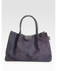 See By Chloé Blue Aloise Small Printed Twill Tote Bag