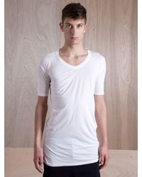 Silent - Damir Doma White Silent By Damir Doma Mens Salvan Mid Sleeve Loose Fit Tshirt for men