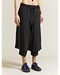 Yohji Yamamoto Blue Yohji Yamamoto Pour Homme Mens Jersey Chaps for men