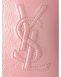Saint Laurent | Pink Belle Du Jour Mirror Clutch | Lyst