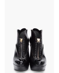 Alexander McQueen - Black Studded Leather Pumps - Lyst