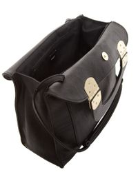 ASOS Black Metal Hinge Handheld Bag