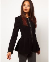 ASOS Collection Black Peplum Hem Jacket