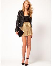 ASOS Skater Skirt in Metallic