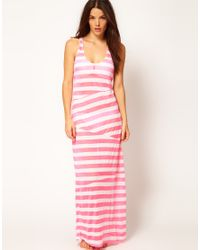 ASOS Pink Asos Stripey Cut About Maxi Beach Dress