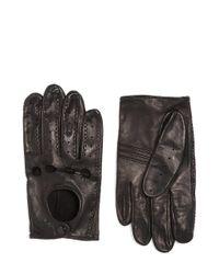 Brooks Brothers Black Deerskin Driving Gloves for men