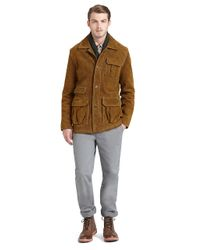 Brooks Brothers Brown Suede Barn Jacket for men