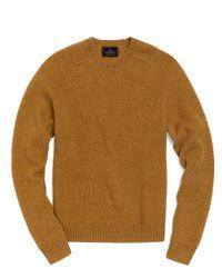 Brooks Brothers Metallic Shetland Saddle Shoulder Crewneck Sweater for men