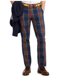 Brooks Brothers Blue Fun Tartan Pant for men
