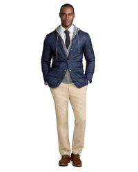 Brooks Brothers Blue Quilted Blazer for men