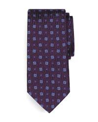 Brooks Brothers Purple Parquet Square Medallion Tie for men