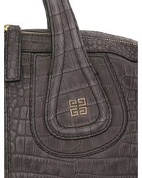 Givenchy Black Medium Nightingale Embossed Top Handle