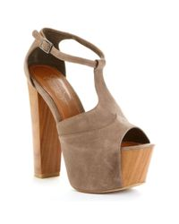 Jessica Simpson | Brown Dany Platform Sandals | Lyst