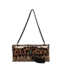 Love Moschino Brown Shining Leopard Bag