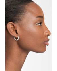 Marc By Marc Jacobs | Black Classic Marc Hoop Earrings | Lyst