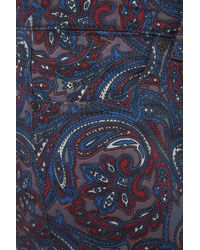 TOPSHOP Blue Moto Super Soft Paisley Leigh Jeans