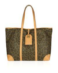 Mulberry | Black Scotch Grain Leopard Print Leather Tote | Lyst