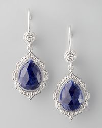 Penny Preville   Blue Scalloped Diamond Sapphire Earrings   Lyst
