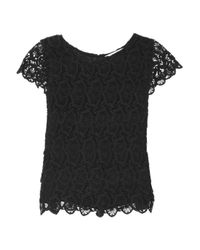 See By Chloé Black Tiered Lace Top