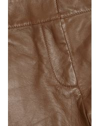 See By Chloé Brown Leather Shorts