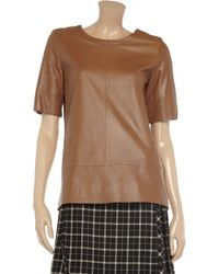 See By Chloé Brown Leather Top