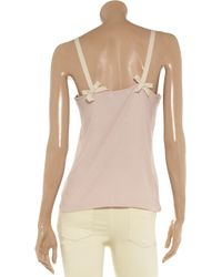 See By Chloé Pink Ribbed Jersey Camisole
