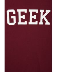 TOPSHOP Red Geek Tee