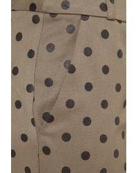 TOPSHOP Natural Khaki Flock Spot Trousers