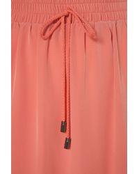 TOPSHOP Pink Peach Sheer Hem Maxi Skirt