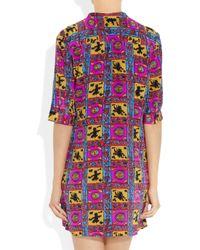 Tucker Multicolor Printed Silk Tunic Dress